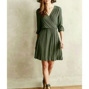 Anthropologie Maeve Dresses - Anthropologie Green Wrap Dress